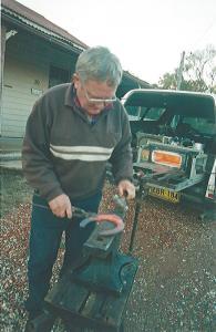 Adjusting an old shoe