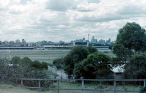 Randwick Race Course from Albert's Blacksmith shop where Sandy Sutherland worked for Albert O'Cass