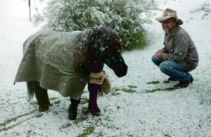 Sandy with a shetland pony